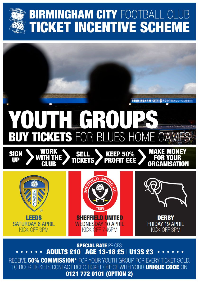 Birmingham City Football Incentive – April