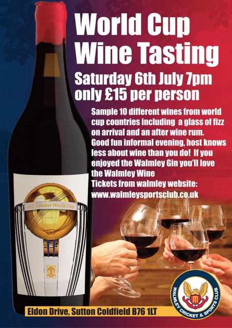World Cup Wine Tasting on Friday 6th July!