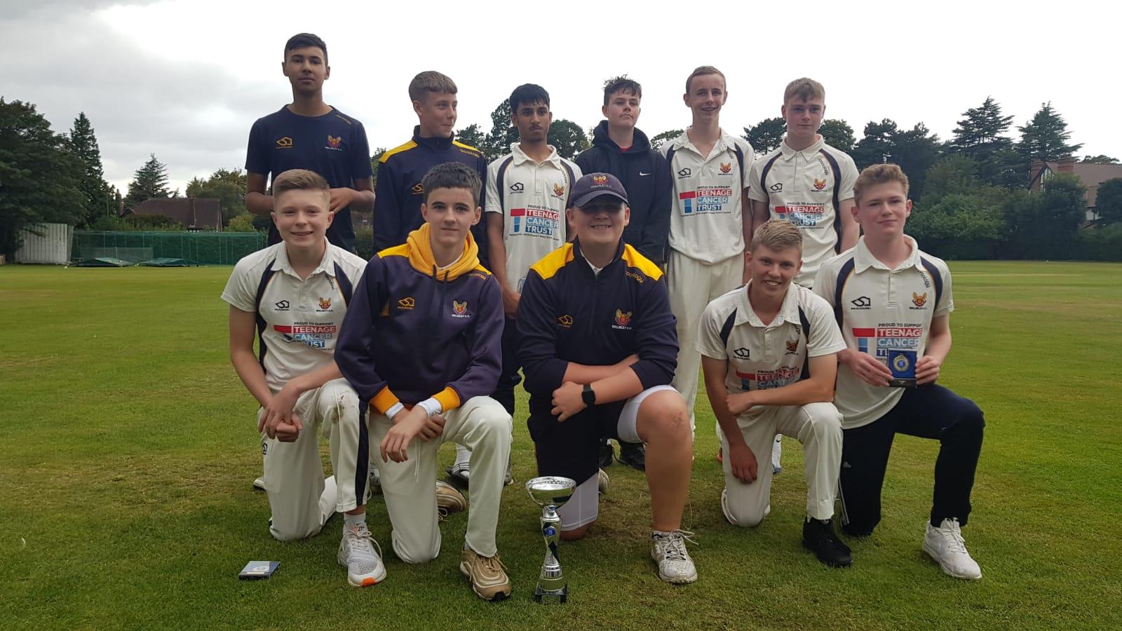 U15Bs Warwickshire Cup Champions