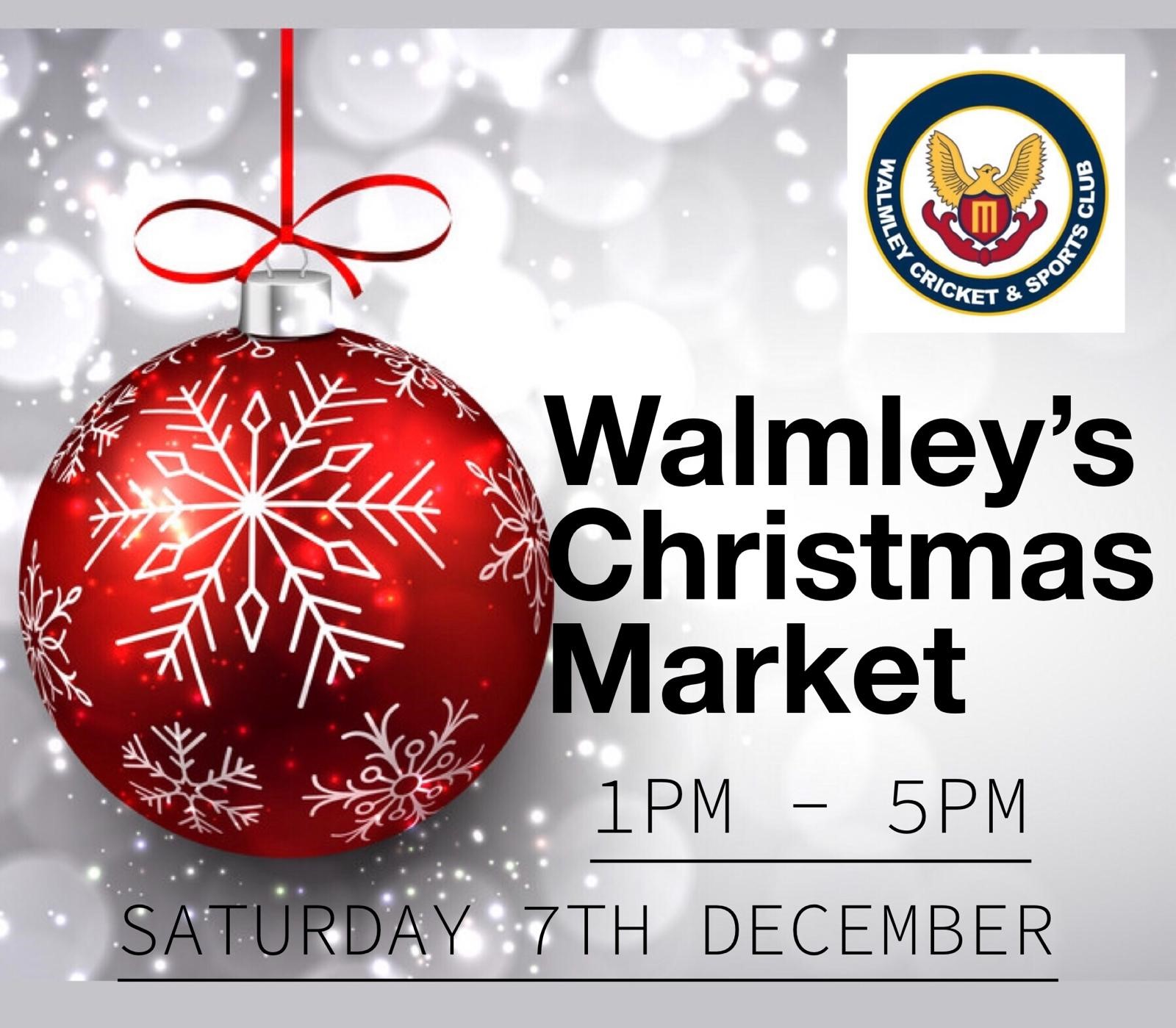 Just a few days left until Walmley's Christmas Market!
