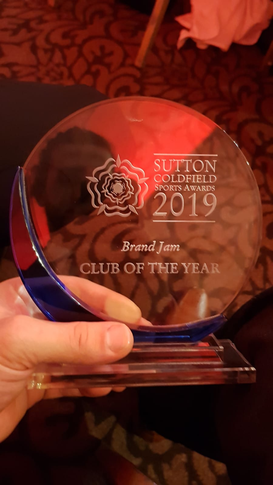 Sutton Coldfield Sports Awards Club of the Year!