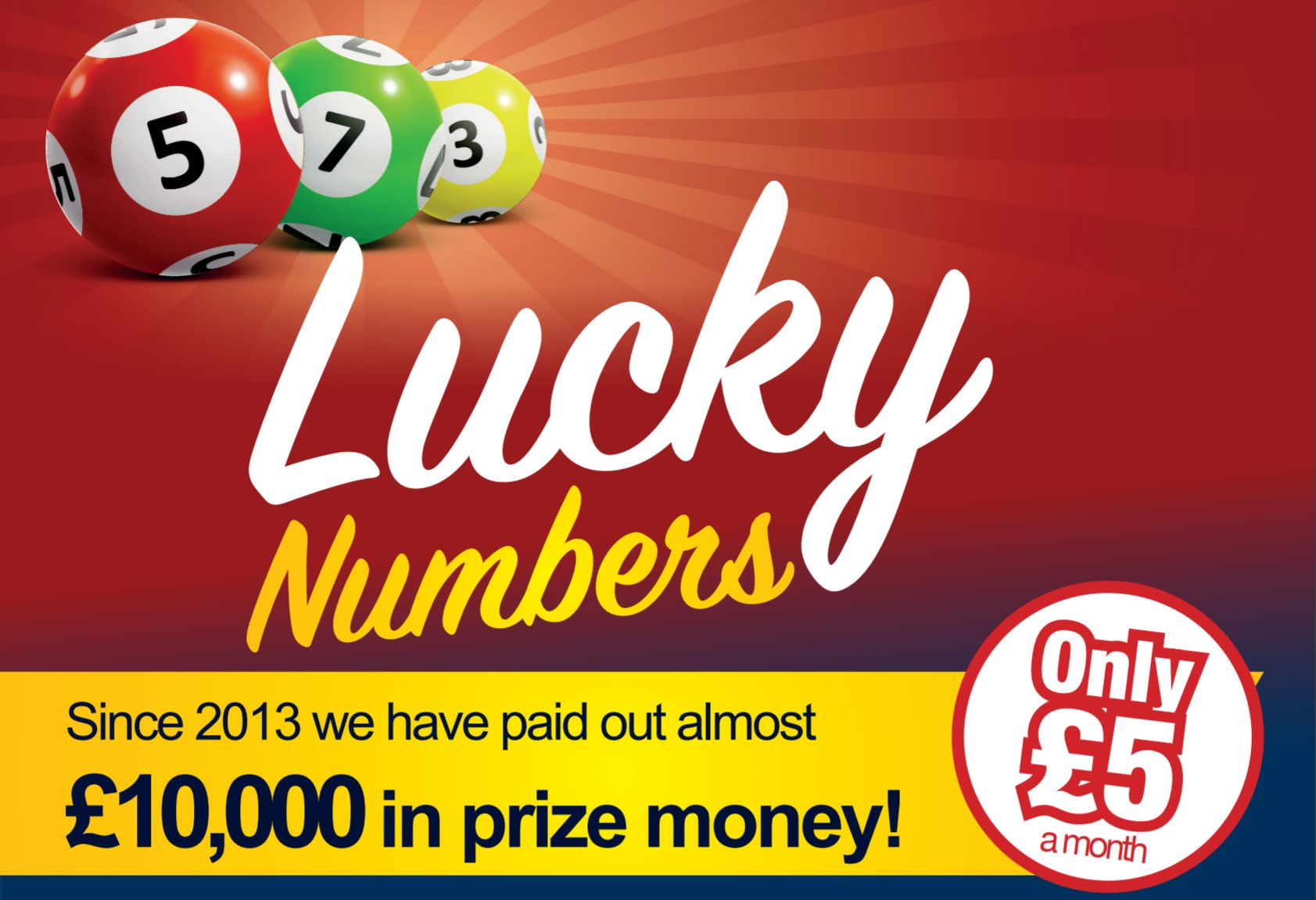 January's Lucky Numbers Winners