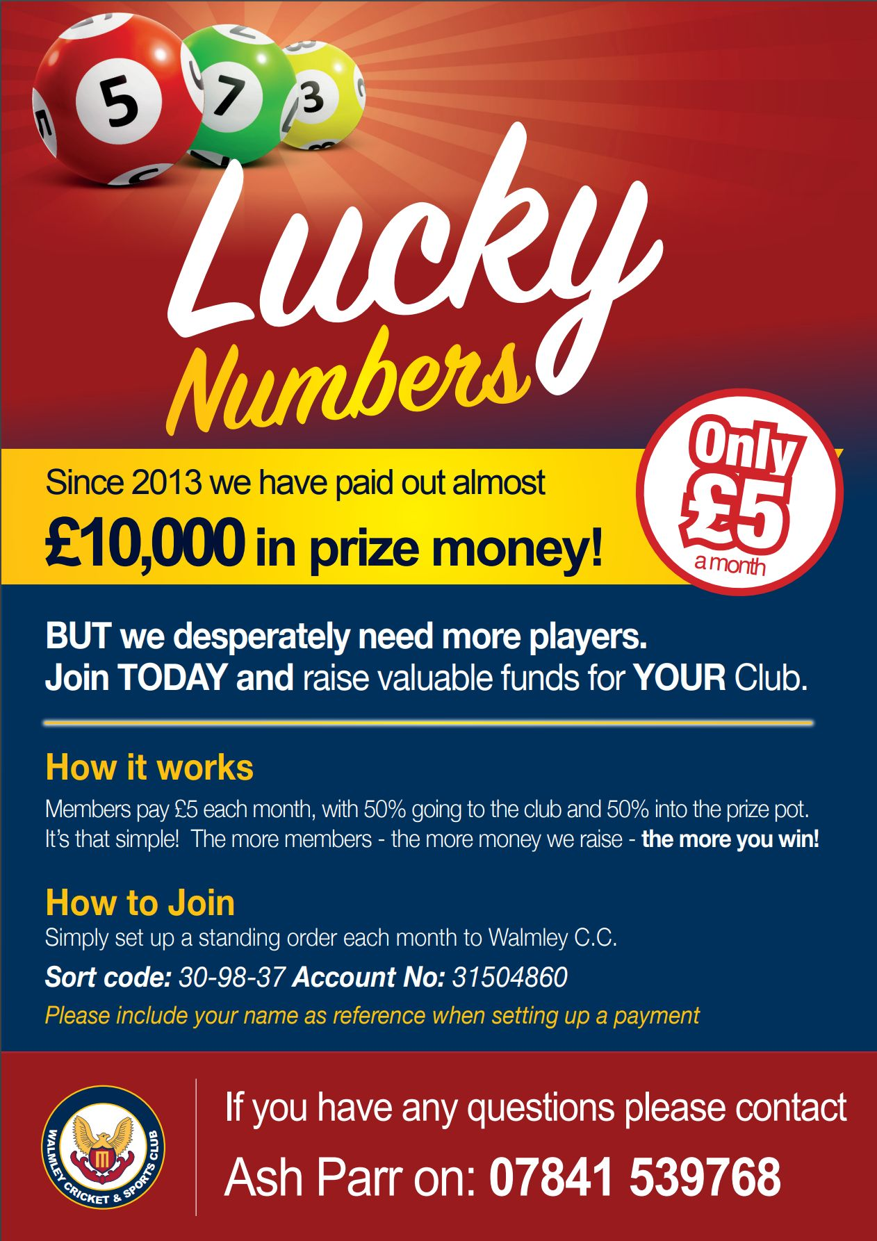 Lucky Numbers September Draw