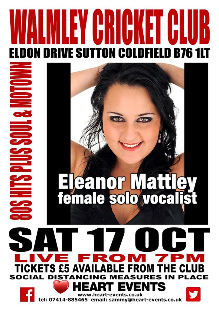 CANCELLED Eleanor Mattley – Solo Vocalist